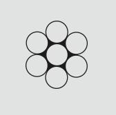 cordoalha 7 fios 1+6